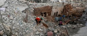 Russian air strikes Syria
