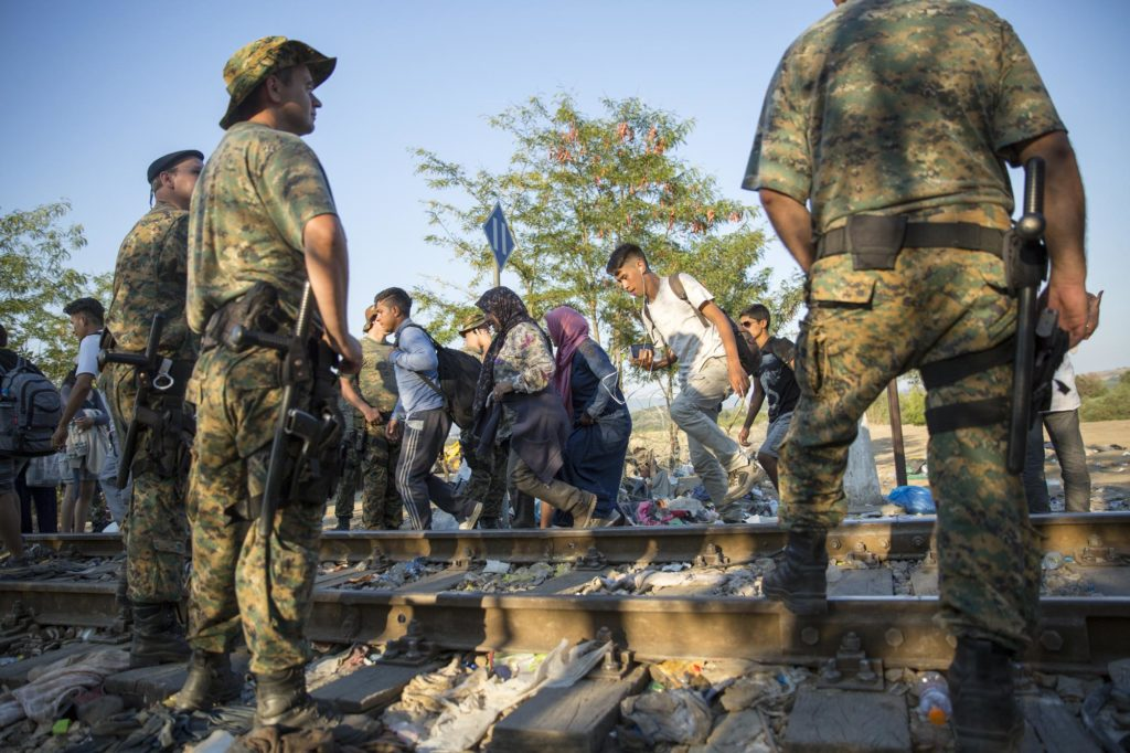 Refugees and Migrants Macedonian Border