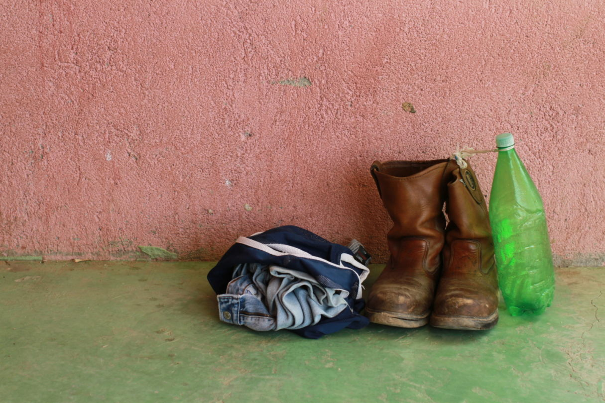Belongings of a migrant in Ciudad Ixtepec Shelter, Mexico, 2010. This photo was taken during the making of 'The Invisibles' a film about migrants in Mexico.