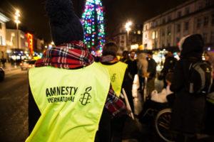 Amnesty International Ireland staff on O' Connell Street