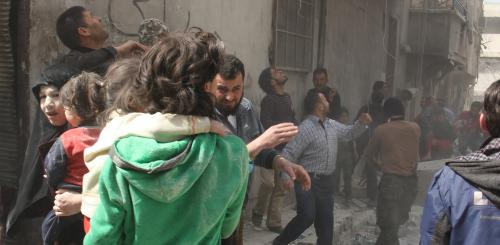 Bombing in Aleppo, Syria