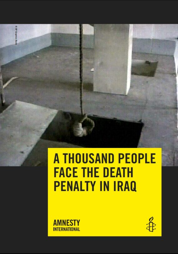 A THOUSAND PEOPLE FACE THE DEATH PENALTY IN IRAQ