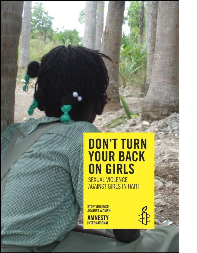DON'T TURN YOUR BACK ON GIRLS SEXUAL VIOLENCE AGAINST GIRLS IN HAITI