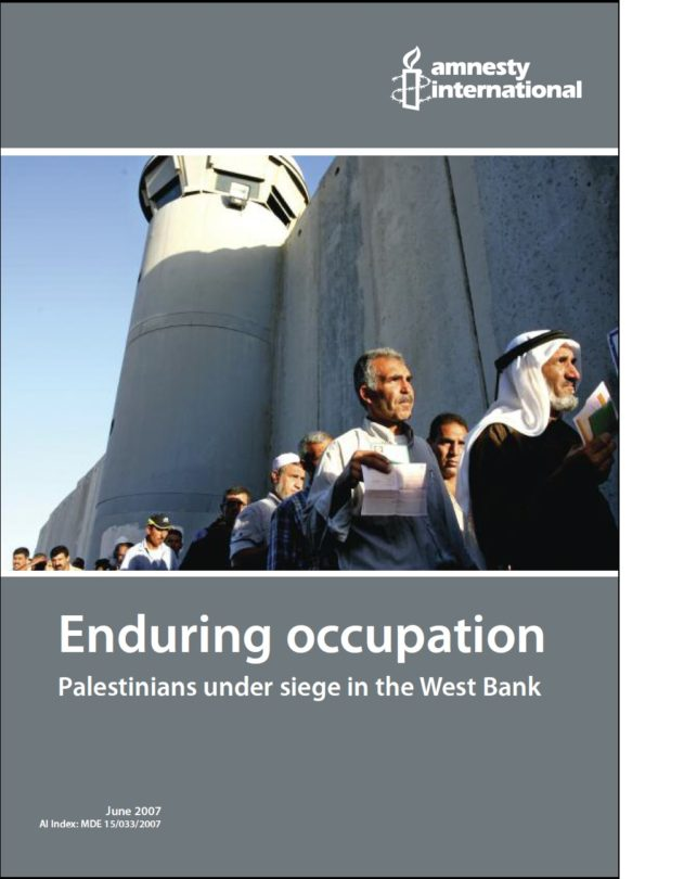 Enduring occupation Palestinians under siege in the West Bank