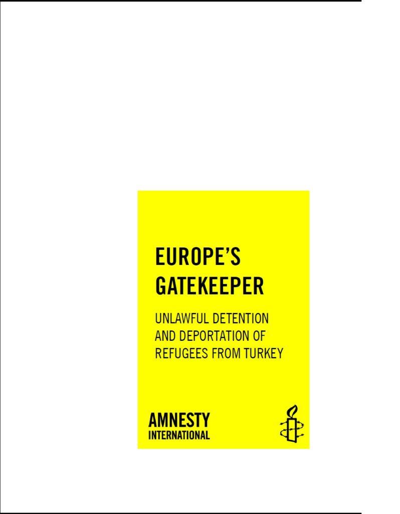 Deportation of Refugees from Turkey