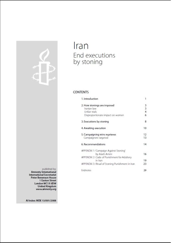 Iran End executions by stoning
