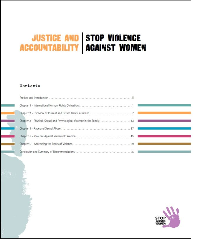 Justice and Accountability – Stop Violence Against Women