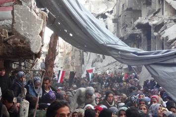 Yarmouk Palestinian Refugee Camp in Damascus