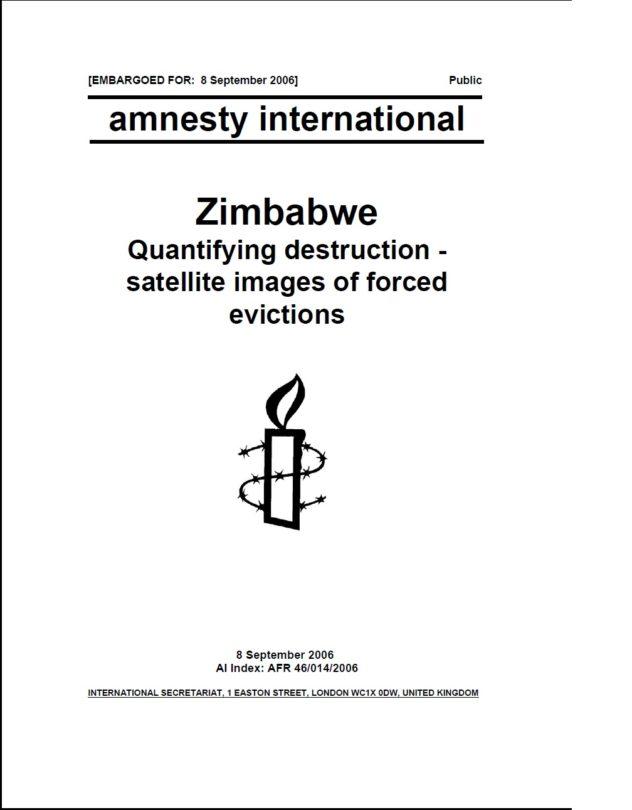 Zimbabwe Quantifying destruction - satellite images of forced evictions