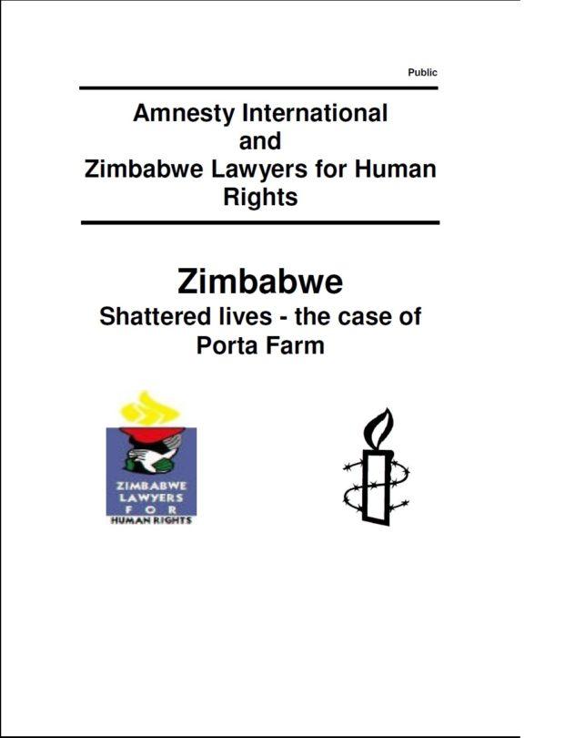 Zimbabwe Shattered lives - the case of Porta Farm