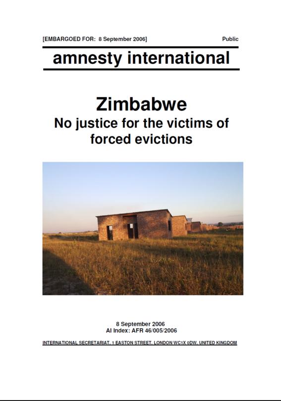 Zimbabwe report 2006
