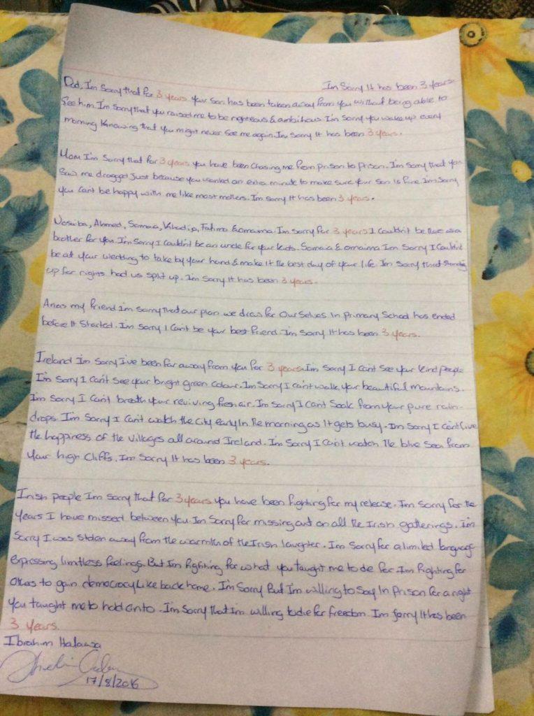 Ibrahim letter