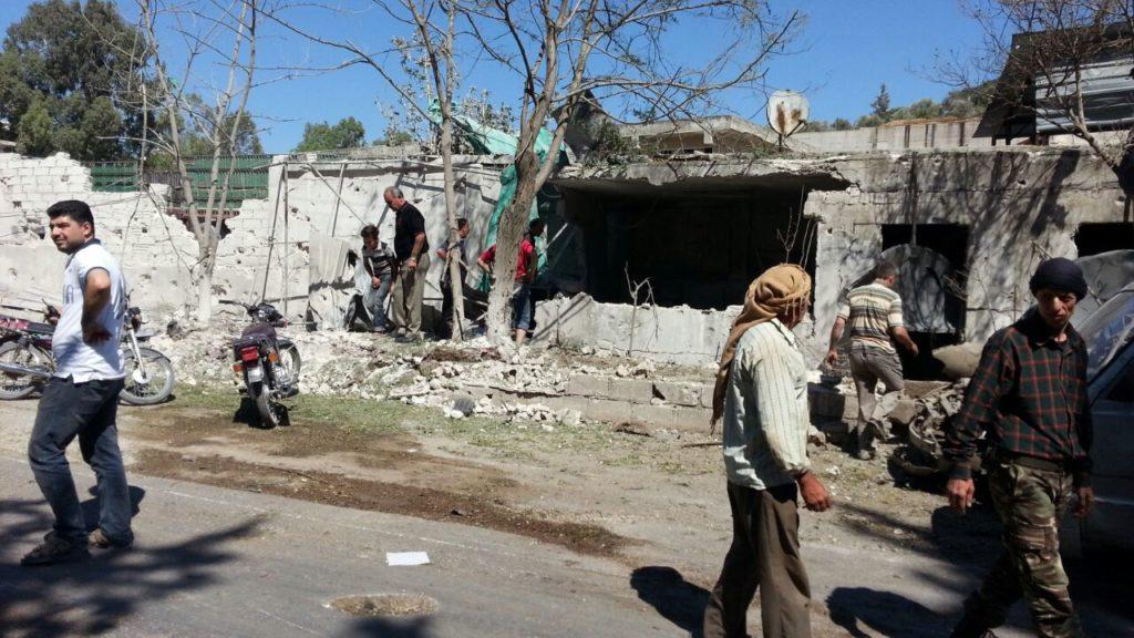Hospital bombing in rural Idlib