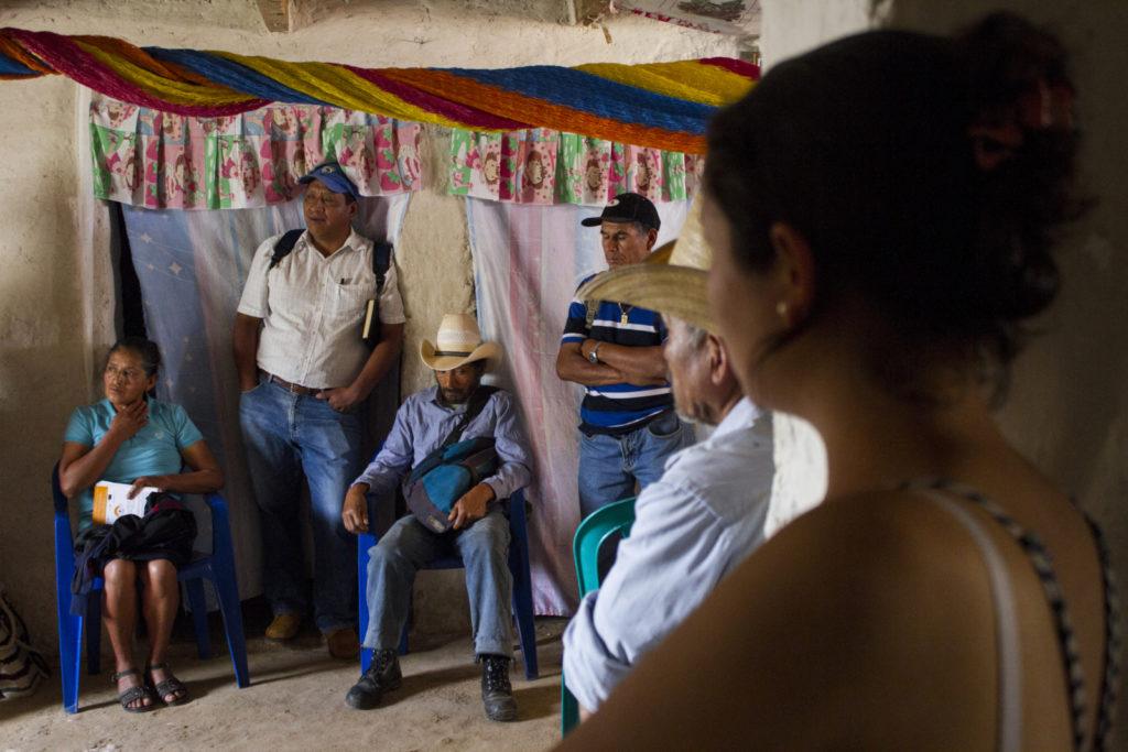 Meeting of MILPAH in Santa Elena. MILPAH (Movimiiento Indigena Lenca Independiente de La Paz) defends the Lenca territory against natural resources extraction projects. La Paz, Honduras, 10/03/2016