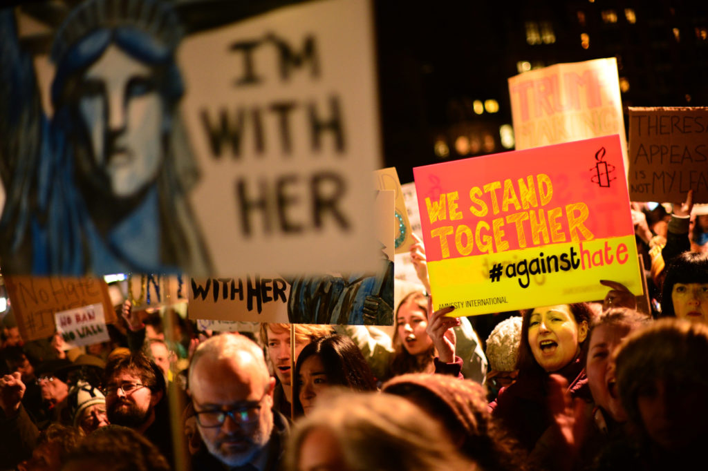 Protests to Trump's Muslim Travel Ban (Photo by Mark Runnacles/Getty Images)