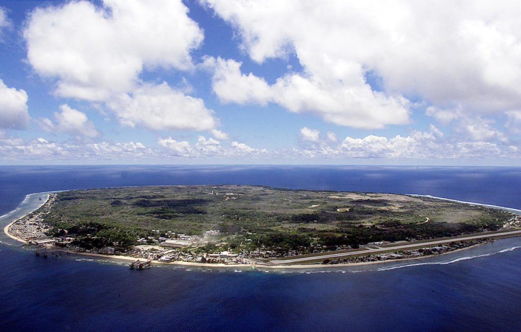 NAURU, NAURU:  The barren and bankrupt island state of the Republic of Nauru awaits the arrival of 521 mainly Afghan refugees, 11 September 2001 which have been refused entry into Australia.  The 25-square-kilometers of land encompassing Nauru has been devastated by phosphate mining which once made the Micronesian Nauruans the second wealthiest people per capita on earth.          AFP PHOTO/Torsten BLACKWOOD (Photo credit should read TORSTEN BLACKWOOD/AFP/Getty Images)