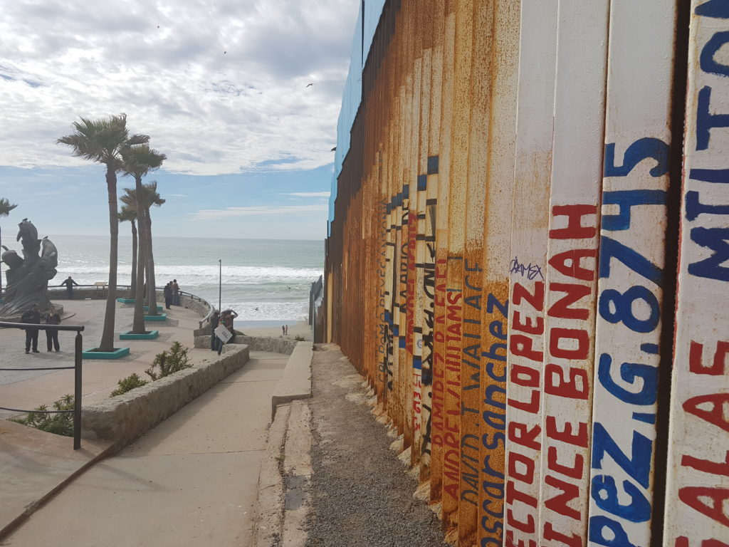 Mexico-US Line at the Border of Tijuana and San Diego. Mexico´s side.