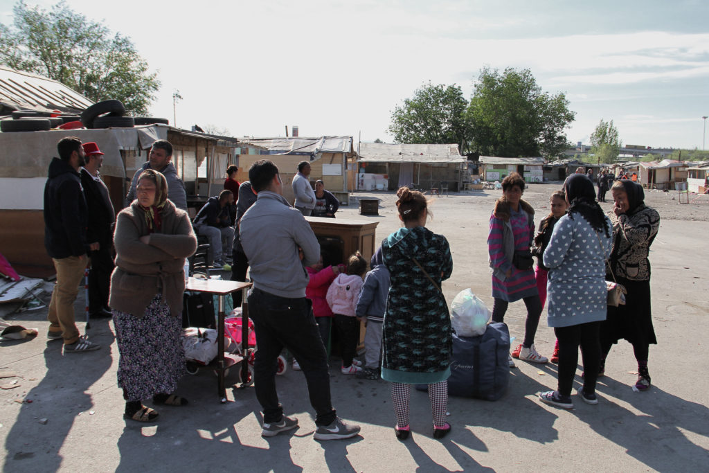 """On 7 April 2017, the informal Romani settlement of Gianturco was forcibly evicted by local authorities in Naples, southern Italy. The community counted around 1,300 Romanian Roma, however many of them left the settlement in the days before the eviction due to repeated harrasment by authorities, feared how the eviction would be carried out and also were threatened with homelessness by authorities. On the day of the eviction, around 200/300 families were in the settlement. Around 130 of them were moved to a new segregated camp in Via del Riposo - where the previous camp was burnt down by unknown in 2011. Few families were offered as alternative a reception centre described """" as a prison"""" by Roma themselves. Many others moved in temporarily with friends and related around Naples and outside, while others moved into existent informal settlements where they fear being forcibly evicted again. Few families are sleeping rough in their cars."""