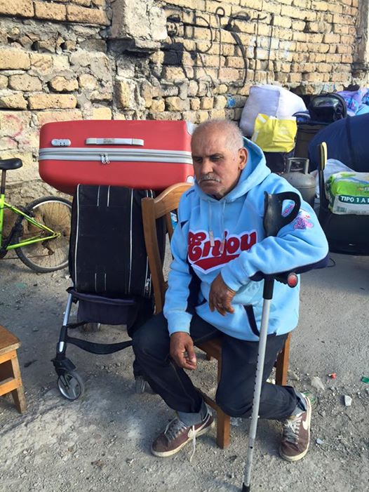 """Costica, waiting outside Gainturco camp with no place to go. Whereabouts unknown. On 7 April 2017, the informal Romani settlement of Gianturco was forcibly evicted by local authorities in Naples, southern Italy. The community counted around 1,300 Romanian Roma, however many of them left the settlement in the days before the eviction due to repeated harrasment by authorities, feared how the eviction would be carried out and also were threatened with homelessness by authorities. On the day of the eviction, around 200/300 families were in the settlement. Around 130 of them were moved to a new segregated camp in Via del Riposo - where the previous camp was burnt down by unknown in 2011. Few families were offered as alternative a reception centre described """" as a prison"""" by Roma themselves. Many others moved in temporarily with friends and related around Naples and outside, while others moved into existent informal settlements where they fear being forcibly evicted again. Few families are sleeping rough in their cars."""