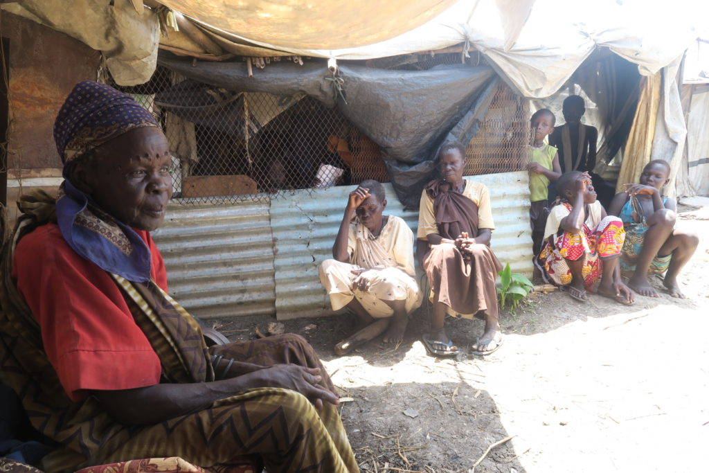 An humanitarian crisis in South Sudan has given rise to new kinds of settlements for internally displaced persons (IDPs). In this image there are few women and children in an IDPs camp in South Sudan, Upper Nile State.