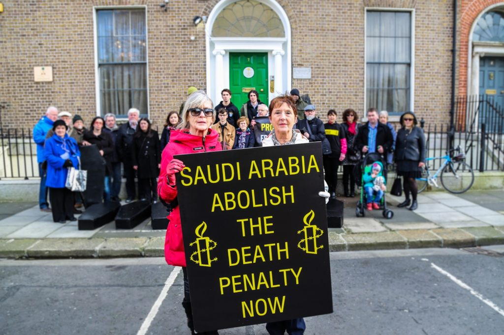 Amnesty International activists protest executions in Saudi Arabia 1 resized