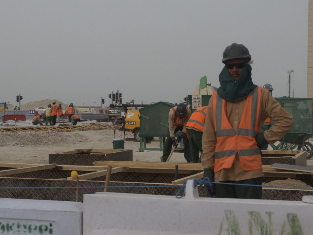 Construction Workers, Lusail City, Qatar.