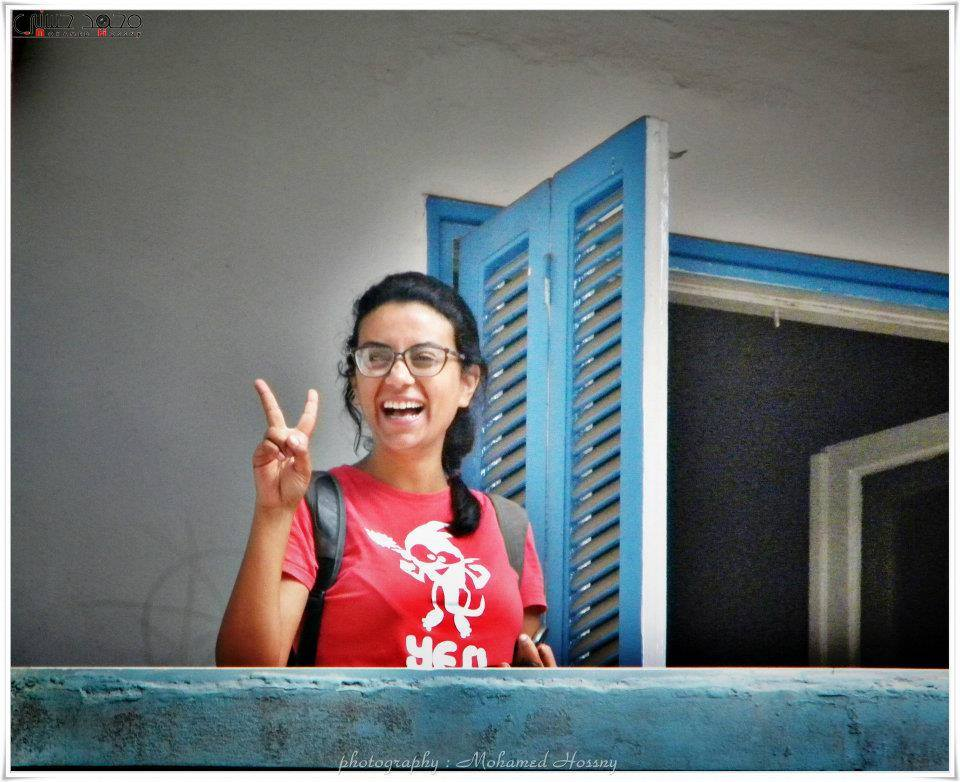Egyptian female activist Mahienour El Massry