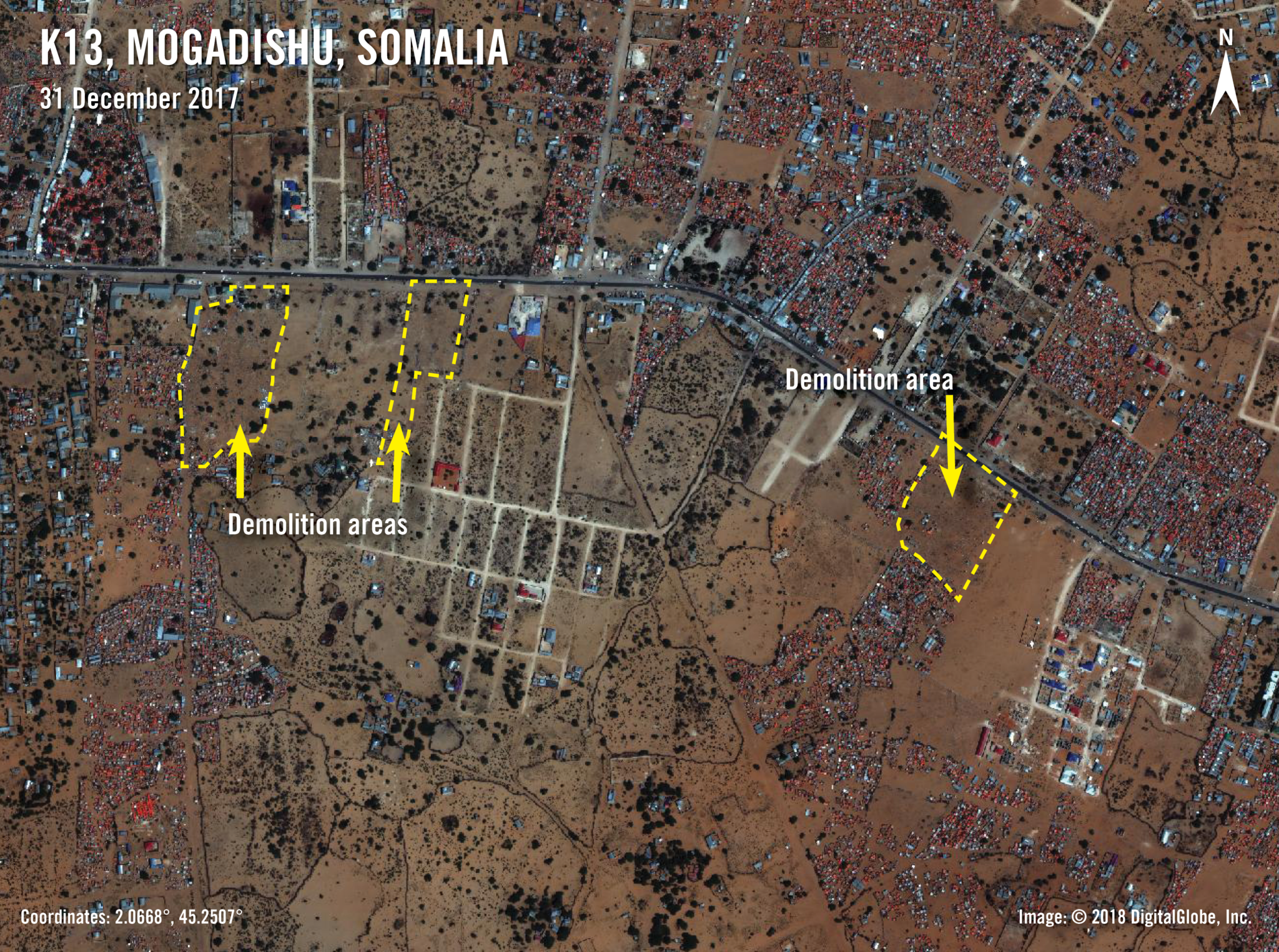Somalia: Satellite imagery reveals devastation amid forced evictions of thousands who fled conflict and drought