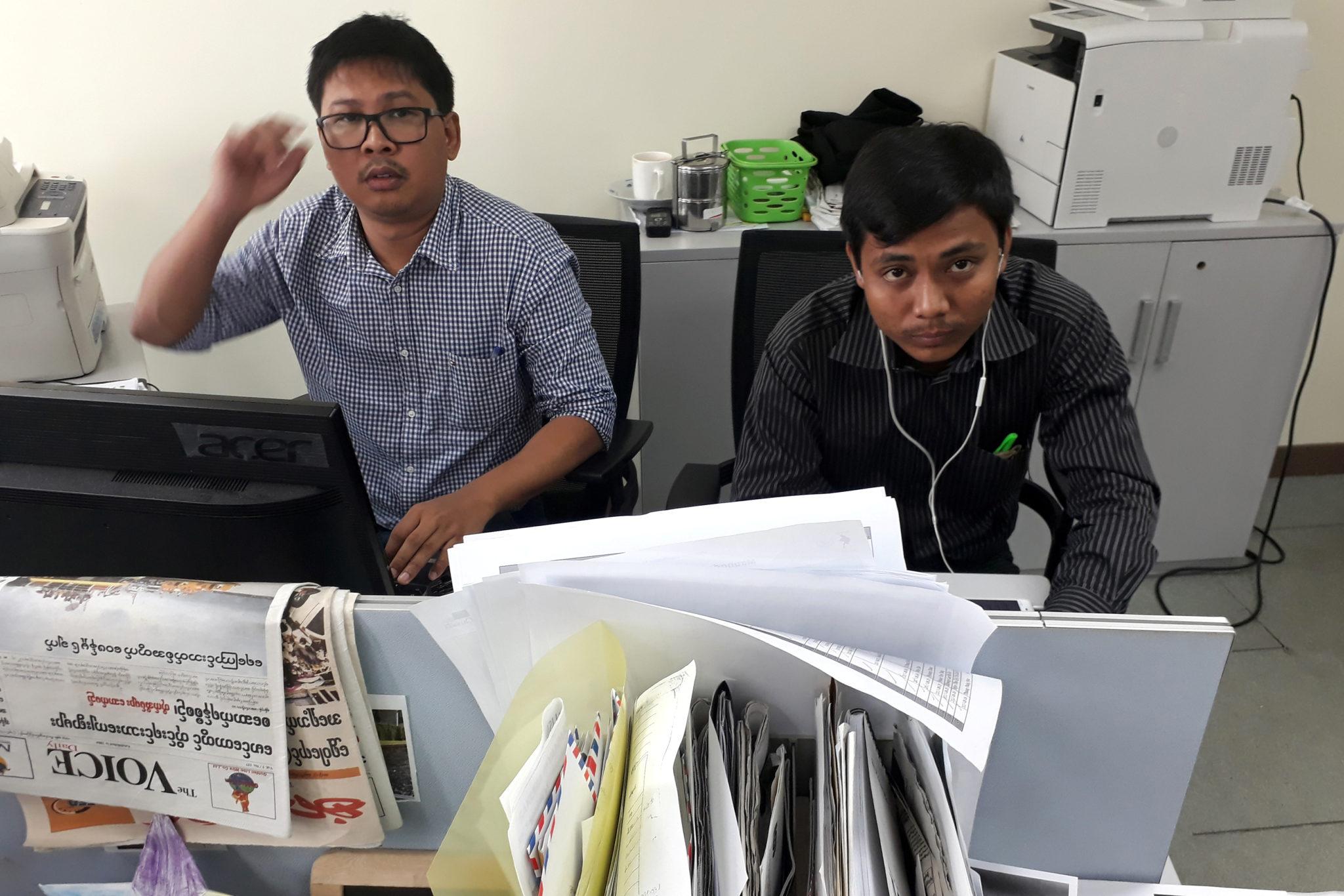 Myanmar: Release journalists facing 14 years in prison