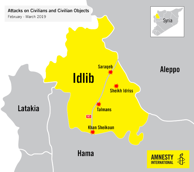 Syria: Unlawful attacks by government forces hit civilians and medical facilities in Idlib