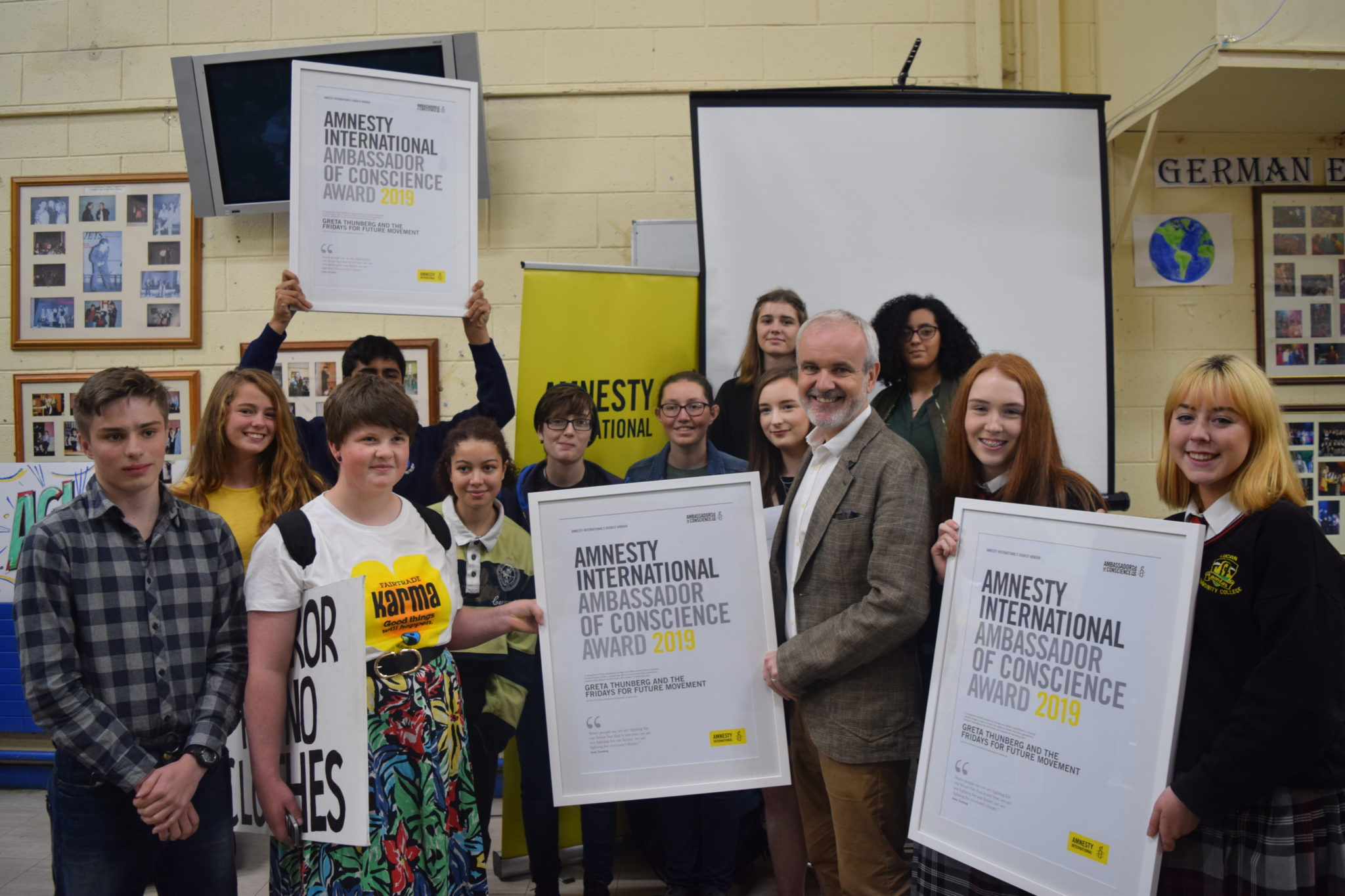 Young Climate Activists Around the World presented with Amnesty's Top Honour