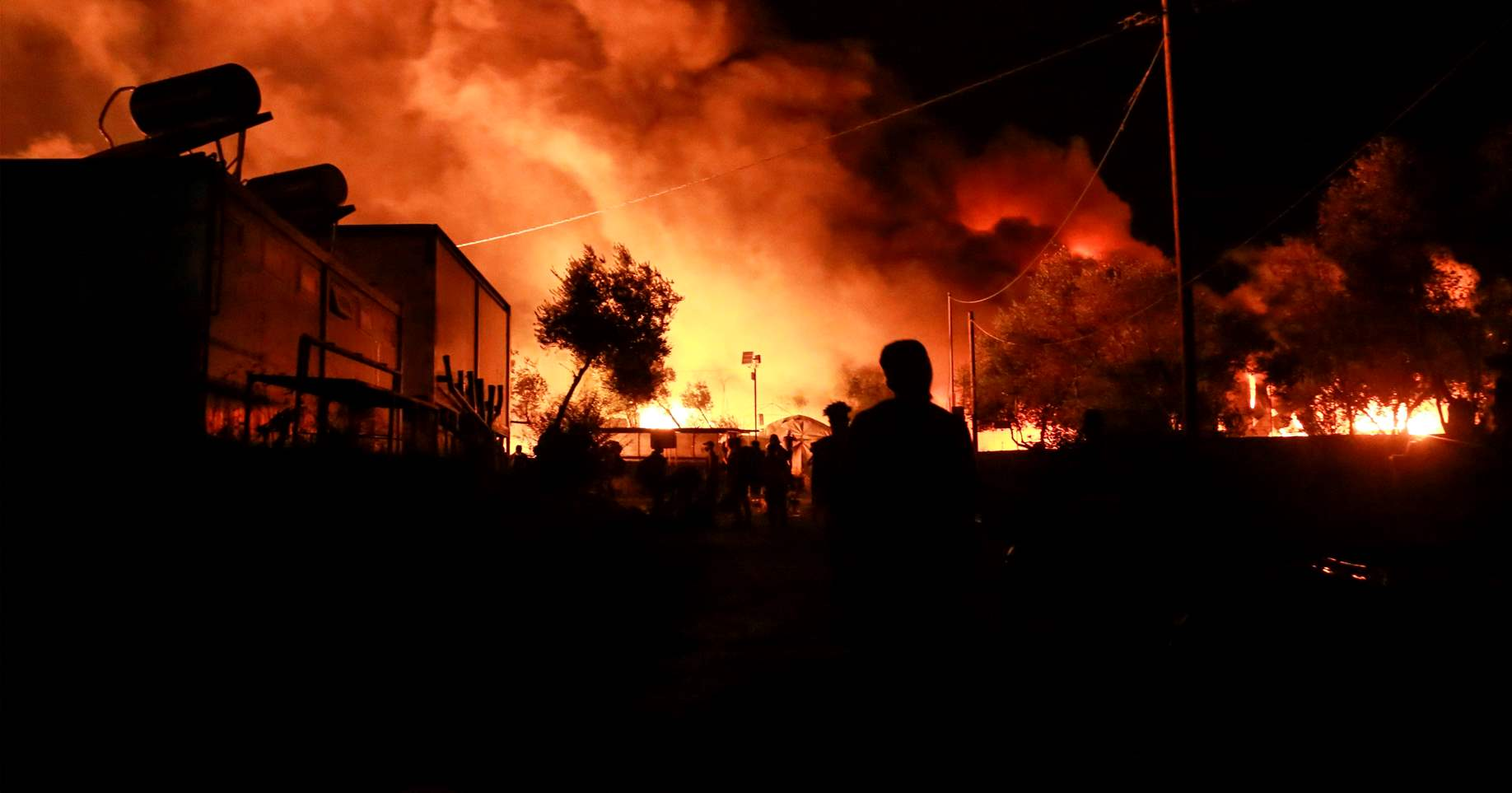 Greece/EU: Fire destroys Moria leaving 12,500 people without shelter