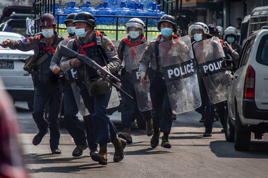Myanmar lethal force