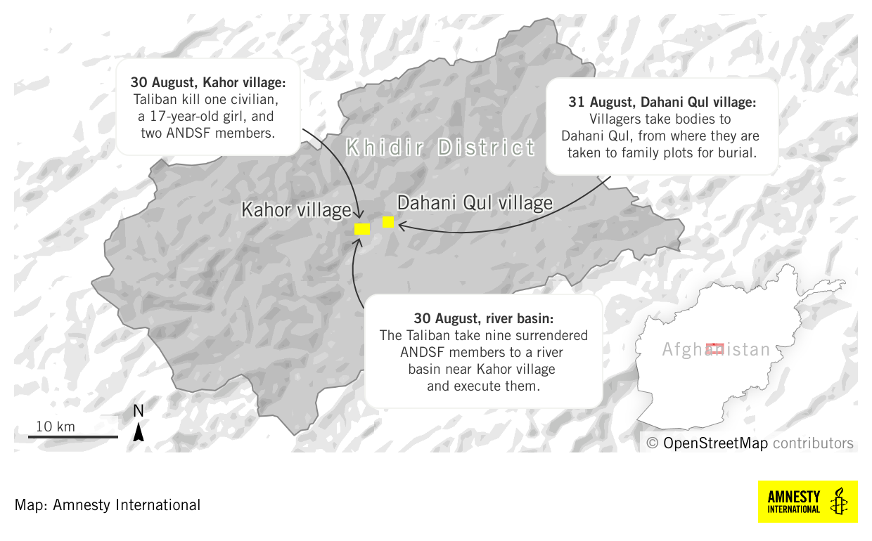 Afghanistan: 13 Hazara killed by Taliban fighters in Daykundi province – new investigation